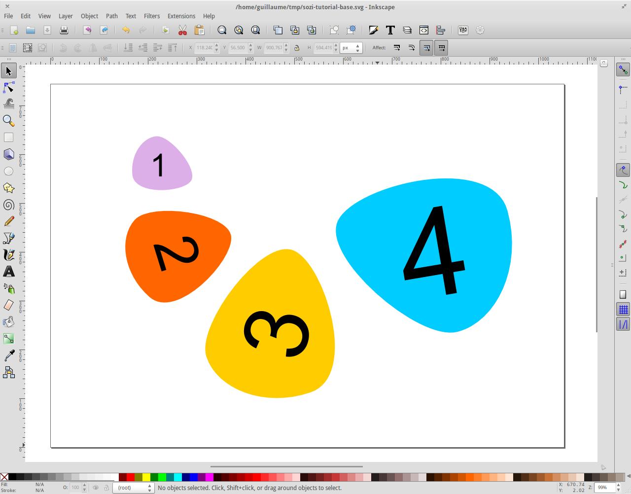 Ouvrir le document SVG dans Inkscape