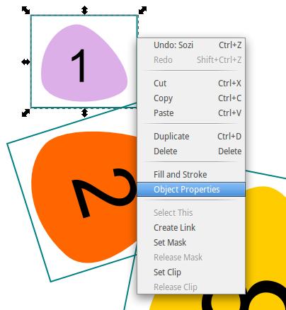 Afficher les propriétés du rectangle