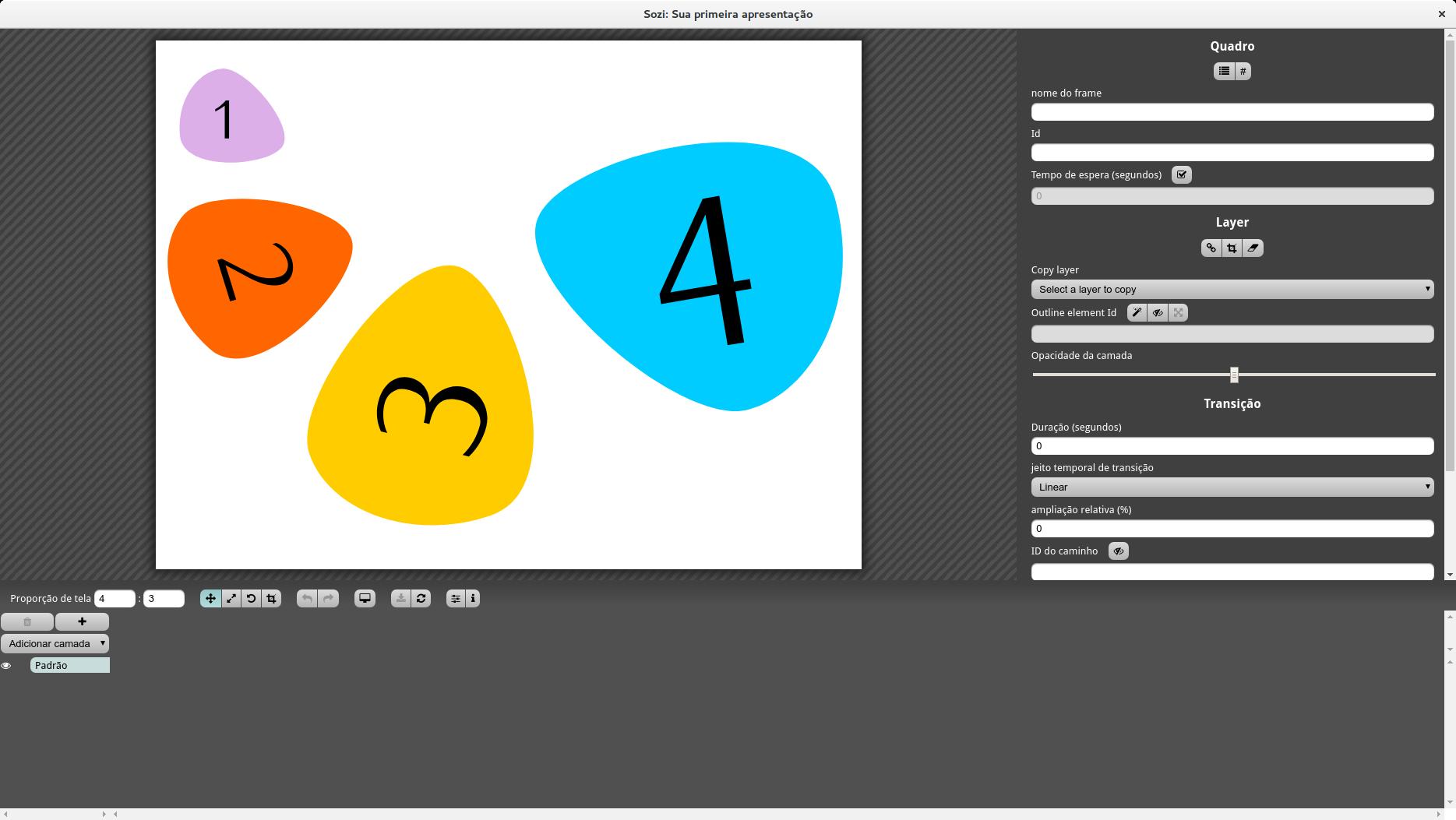 Abra o arquivo SVG com o editor de apresentação