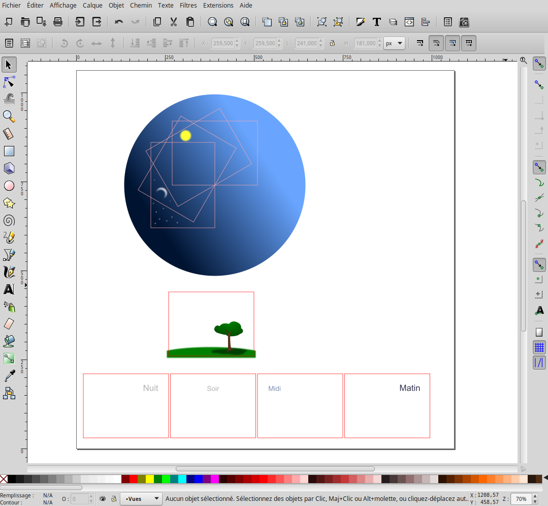 Document de base dans Inkscape
