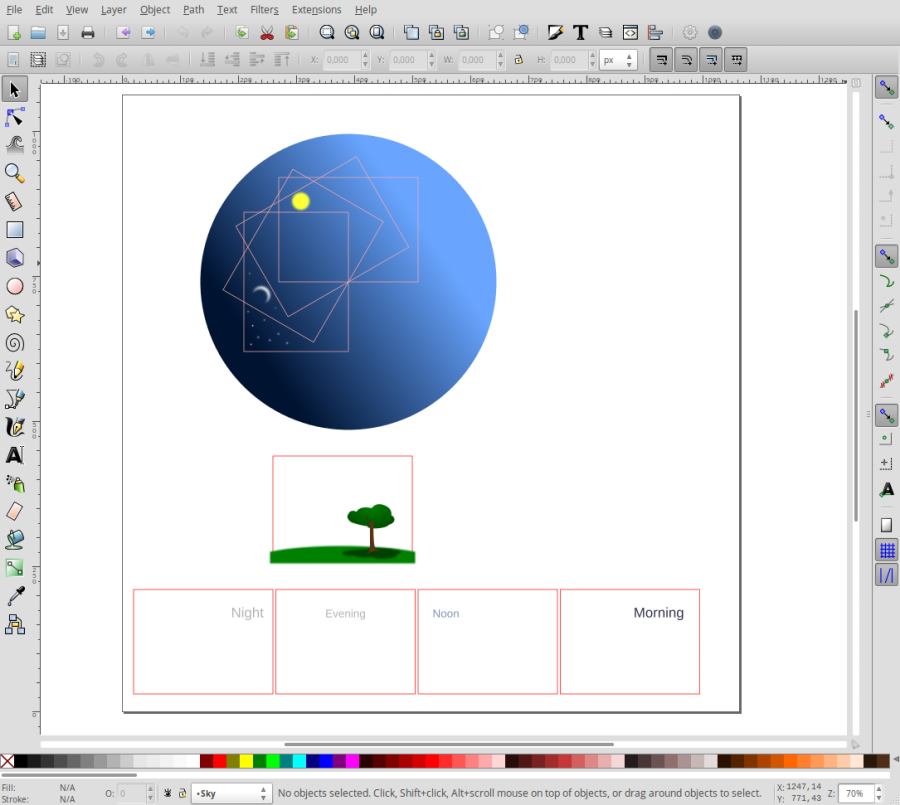 Open the base SVG document in Inkscape