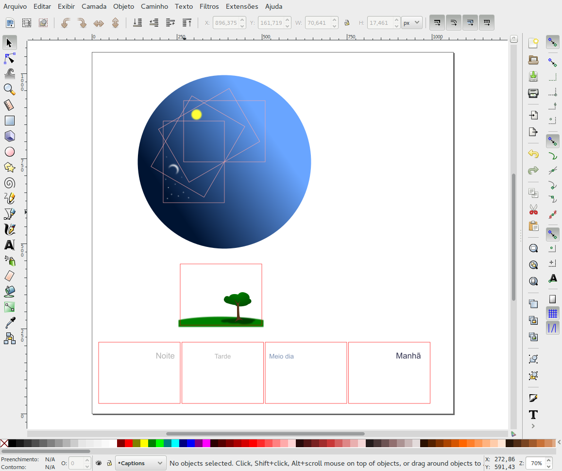 Documento de exemplo no Inkscape