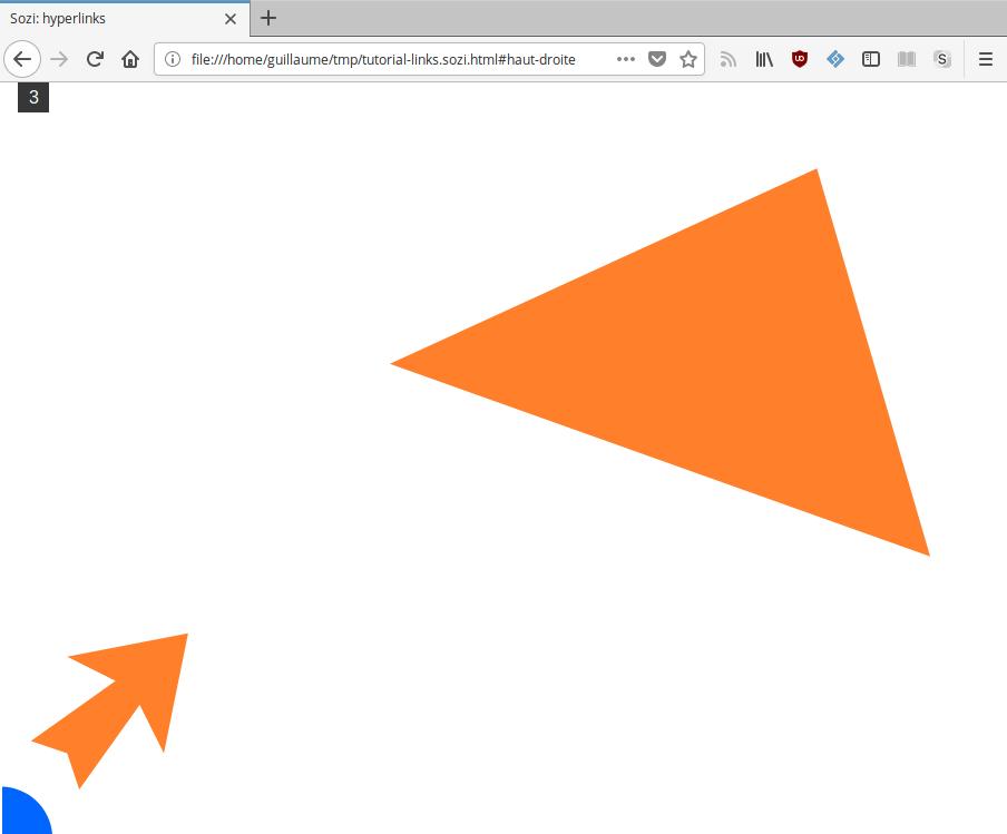 URL d'une vue dans la barre d'adresse d'un navigateur web