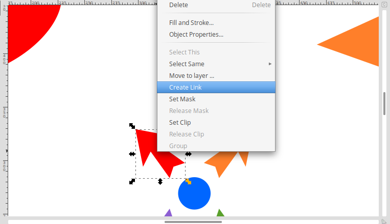 Creating a link in Inkscape